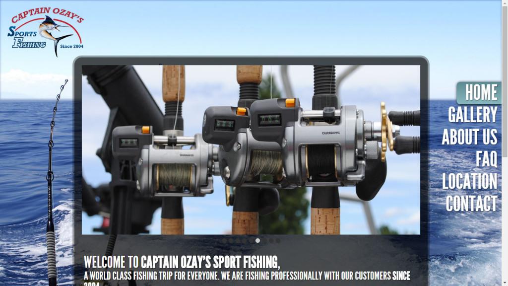 Captain Ozay's Sport Fishing web sitesi tasarımı Ölüdeniz Fethiye