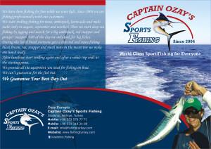 Tan Ajans Fethiye Muğla Captain Ozay Katalog tasarımı