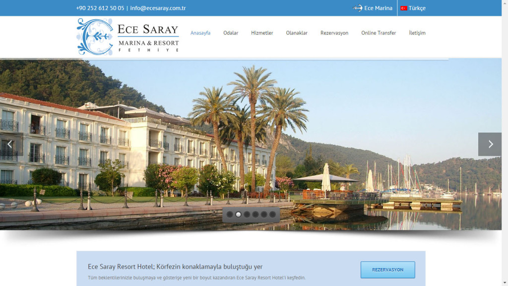 Ece Saray Marina web sitesi tasarımı Fethiye Muğla