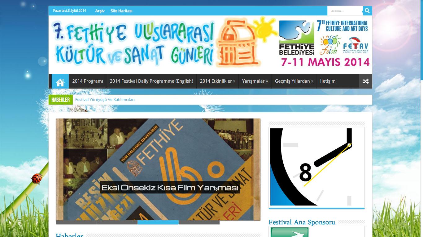 Fethiye Kultur Sanat Gunleri Festivali web sitesi tasarımı Muğla