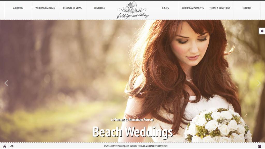 Fethiye Wedding düğün organizasyonları web sitesi tasarımı Fethiye