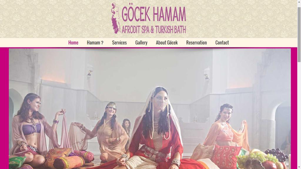 Tan Ajans Fethiye Muğla Göcek Hamam Afrodit Spa web sitesi tasarımı