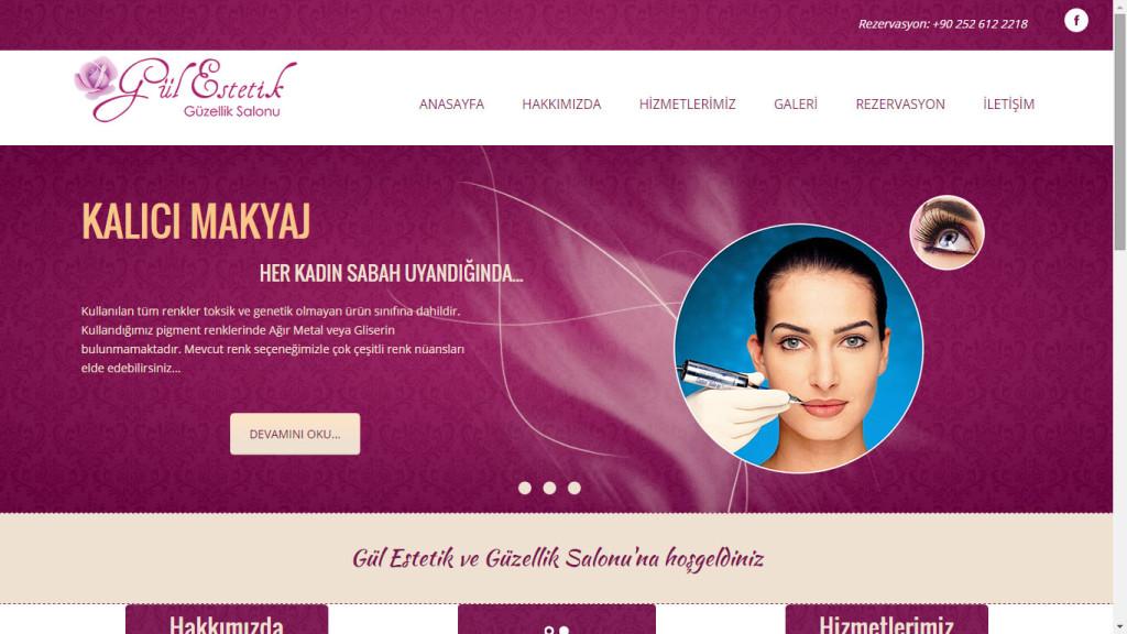 Gul Estetik ve guzellik salonu web sitesi tasarımı Fethiye Muğla