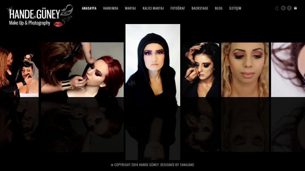 Makyöz Hande Güney Web sitesi tasarımı Antalya