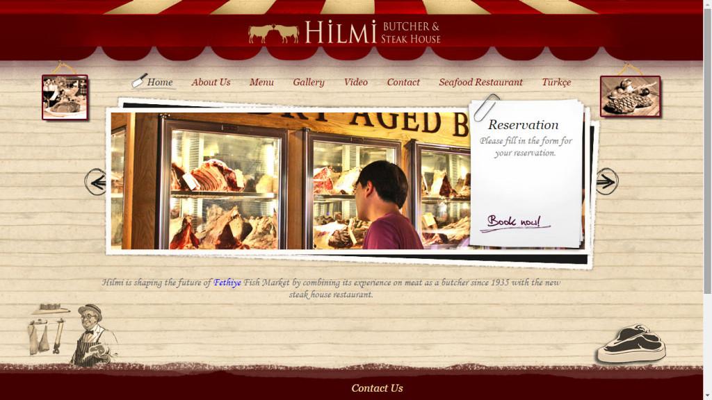 Hilmi Et Restoranı web sitesi tasarımı Fethiye Muğla