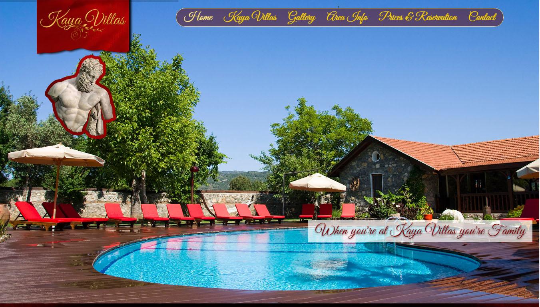 Kaya Villas tatil evleri Kayaköy Fethiye web tasarımı