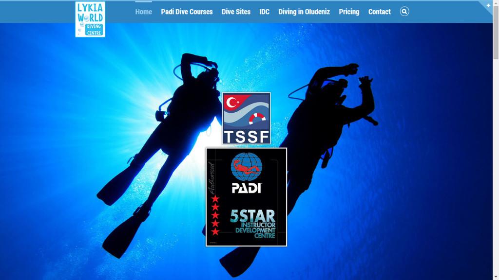 Lykia World Diving Centre web sitesi tasarımı Ölüdeniz Fethiye