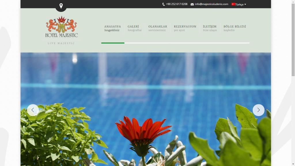 Tan Ajans Muğla Majestic Hotel Ölüdeniz web sitesi tasarımı