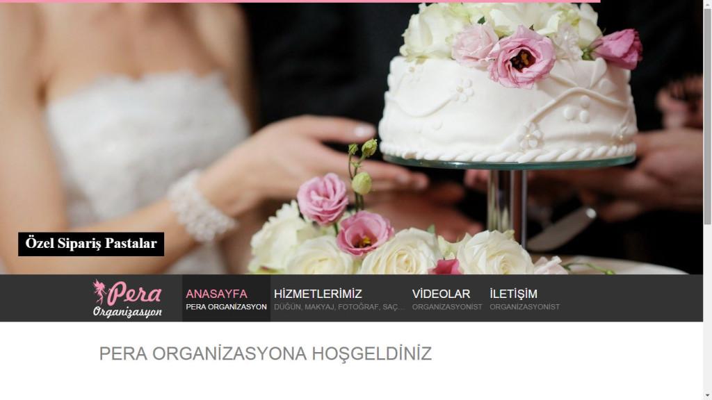 Pera Organizasyon Fethiye Muğla web sitesi tasarımı