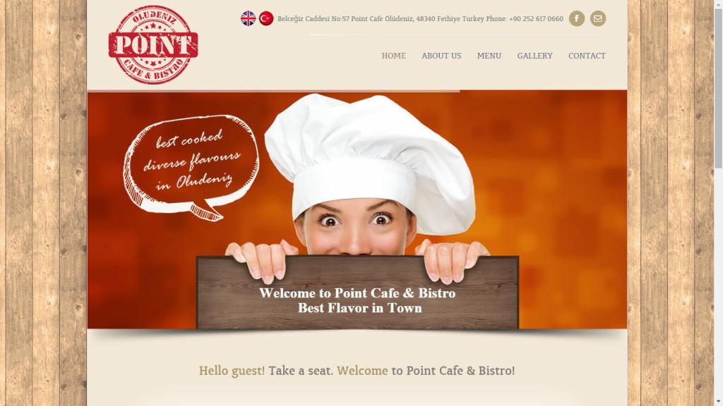 Point Cafe Bistro Ölüdeniz web sitesi tasarımı Fethiye Muğla