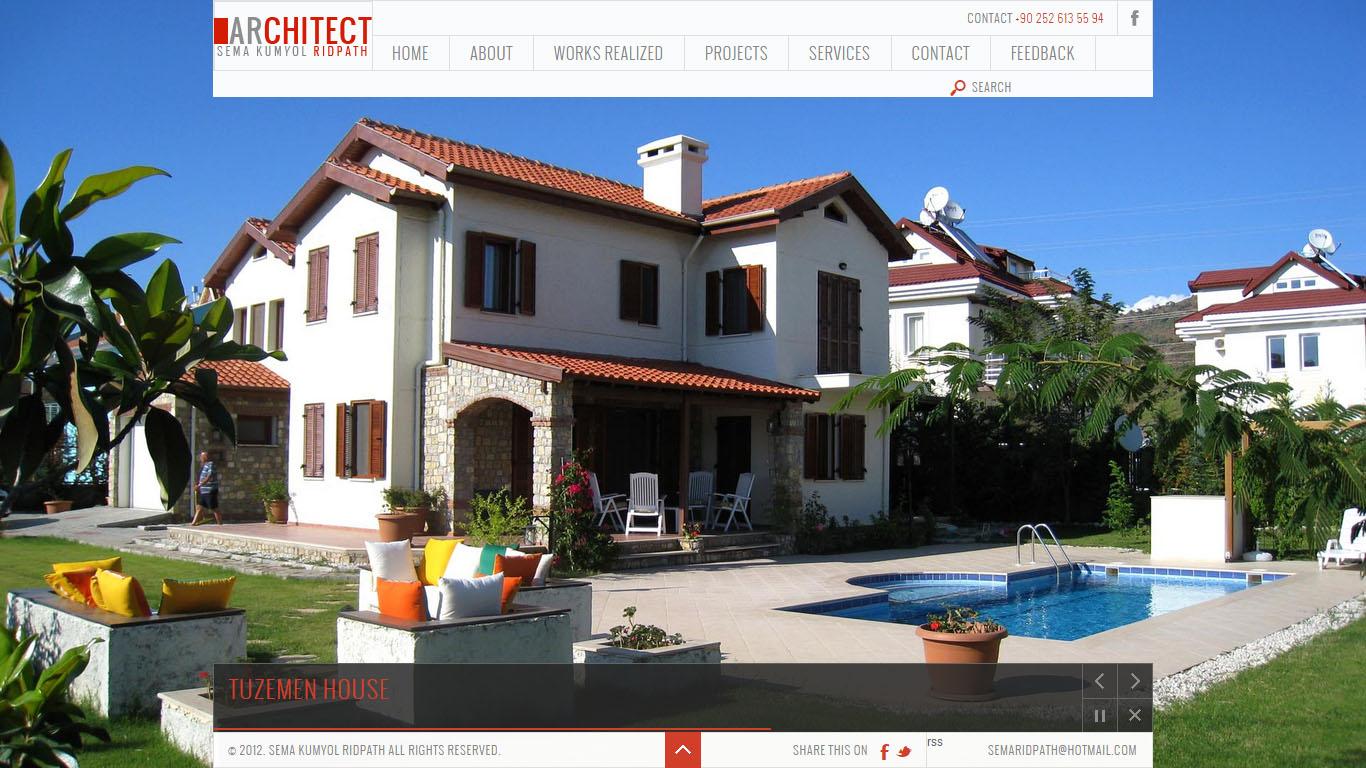 Sema Kumyol Ridpath mimar web sitesi tasarımı Fethiye Muğla