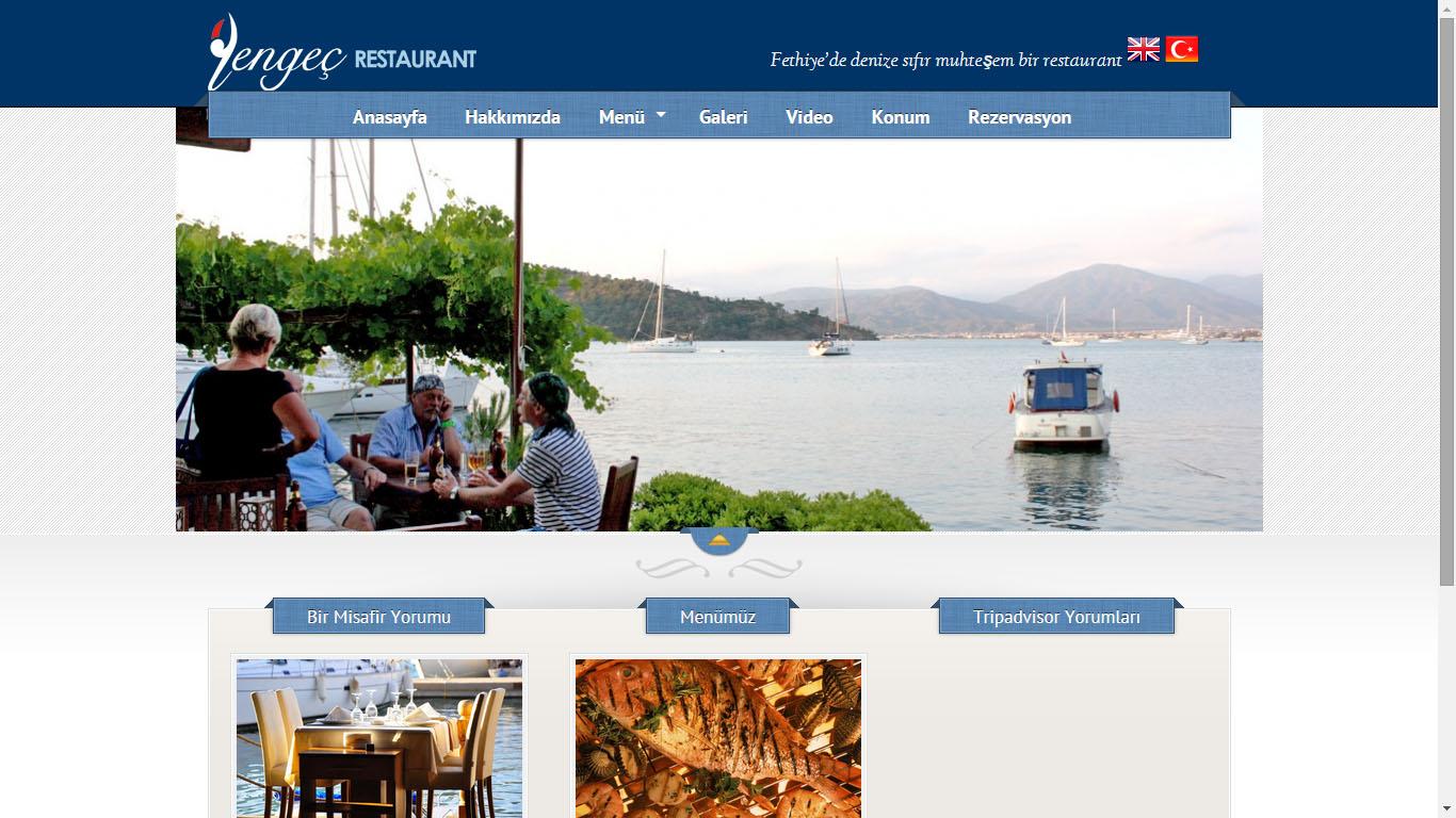 Yengeç restoran web sitesi tasarımı Fethiye muğla