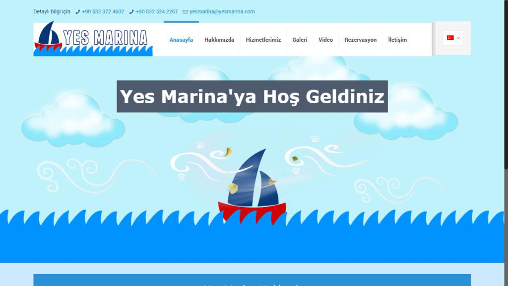 Tan Ajans Yes Marina Fethiye Muğla web sitesi tasarımı