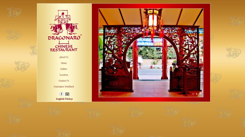 dragonaro chinese restaurant web sitesi tasarımı Fethiye Muğla