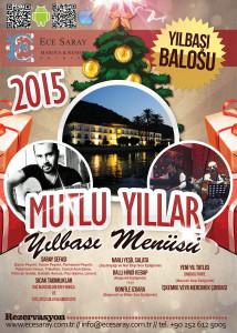Tan Ajans Fethiye Muğla ece saray 2015 yeni yıl afiş tasarımı