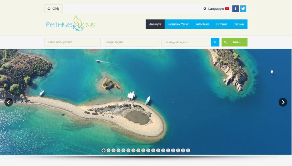 fethiyedays şehir rehberi web sitesi tasarımı Muğla