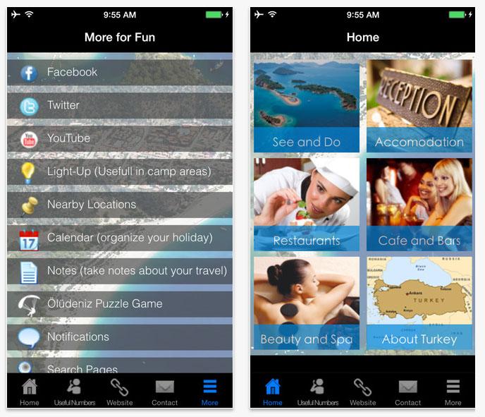 Fethiye Days seyahat rehberi IOS ve Android mobil uygulama tasarımı Muğla