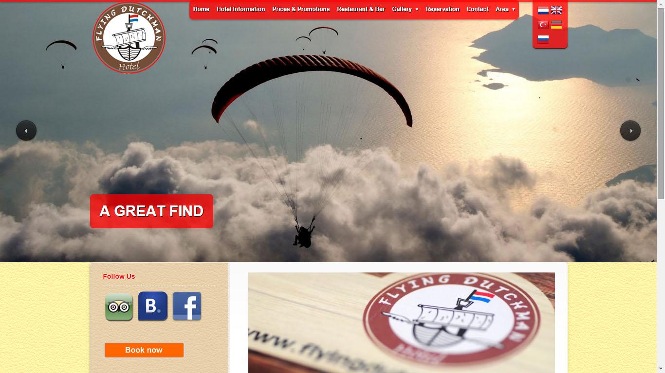 flying dutchman hotel web tasarımı Fethiye Muğla