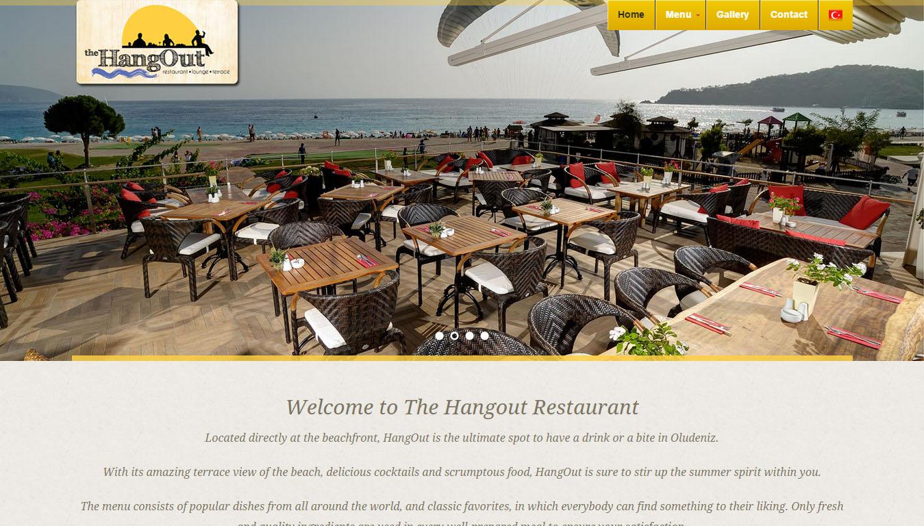 the hangout restaurant ölüdeniz fethiye web sitesi tasarımı