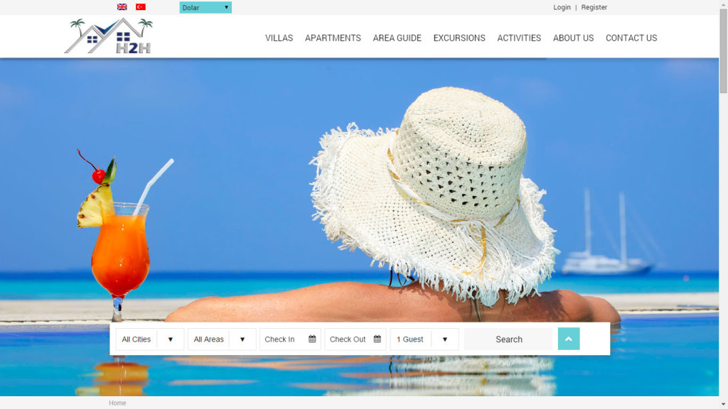 Fethiye Muğla holiday2holiday villa kiralama web sitesi tasarımı