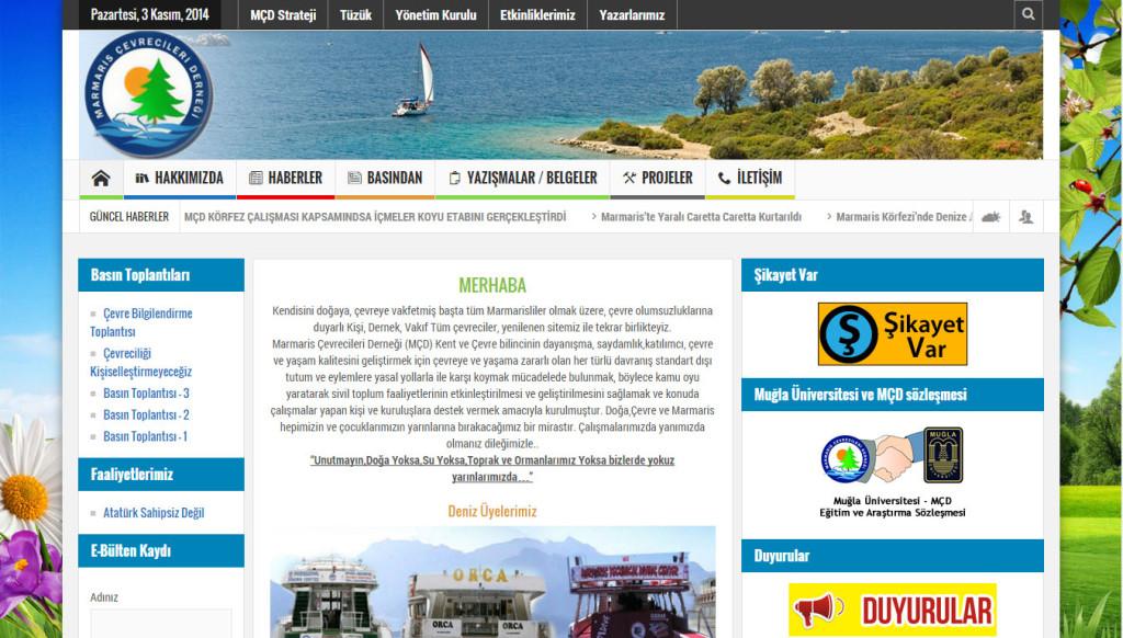 Tan ajans Fethiye marmaris çevrecileri derneği web sitesi tasarımı
