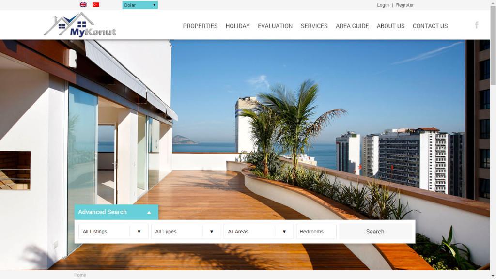 Tan Ajans Fethiye Muğla MyKonut Emlakçı web sitesi tasarımı