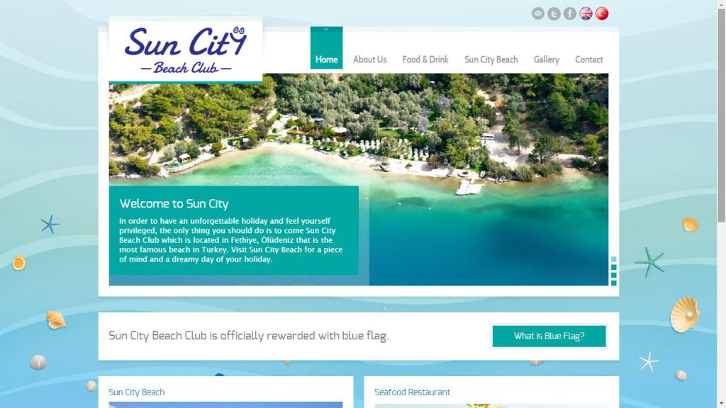 sun city beach club oludeniz web sitesi tasarımı Fethiye Muğla