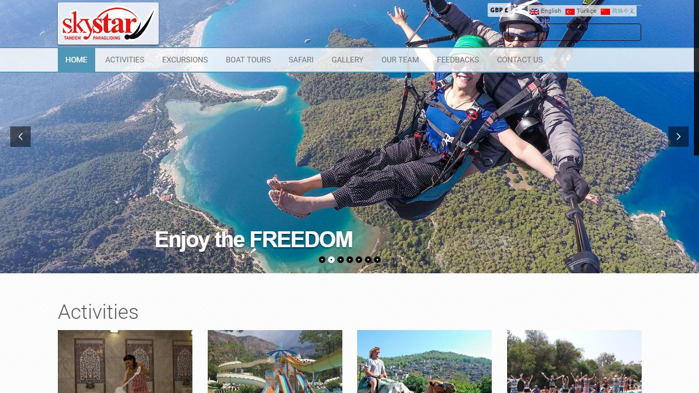 sky star paragliding tur satış website