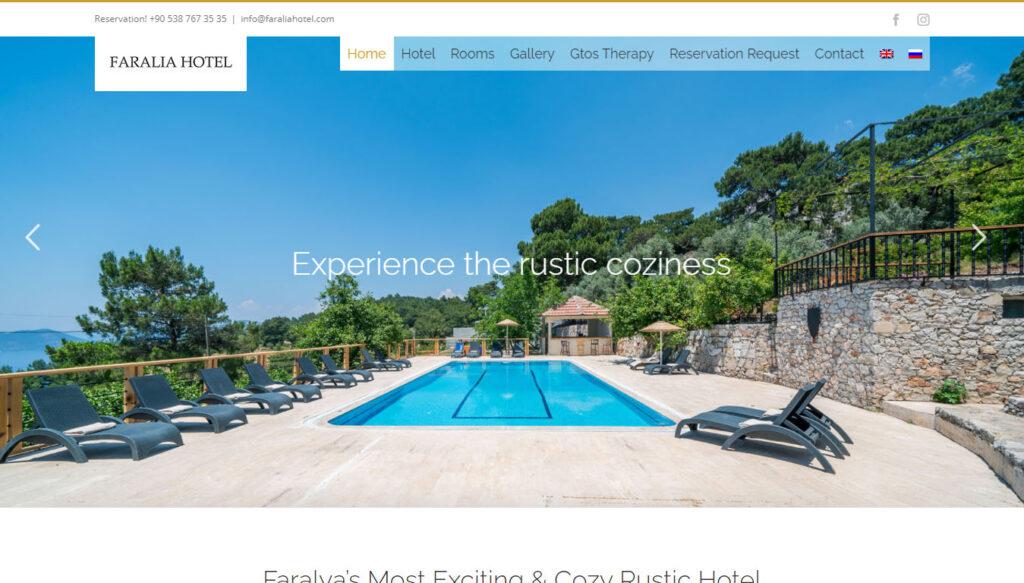 faralia hotel web sitesi tasarımı faralya fethiye